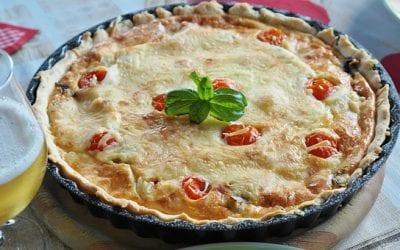 Francoska pita (quiche lorraine)