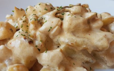 Kuhajmo BIO: Njoki v gorgonzolini omaki